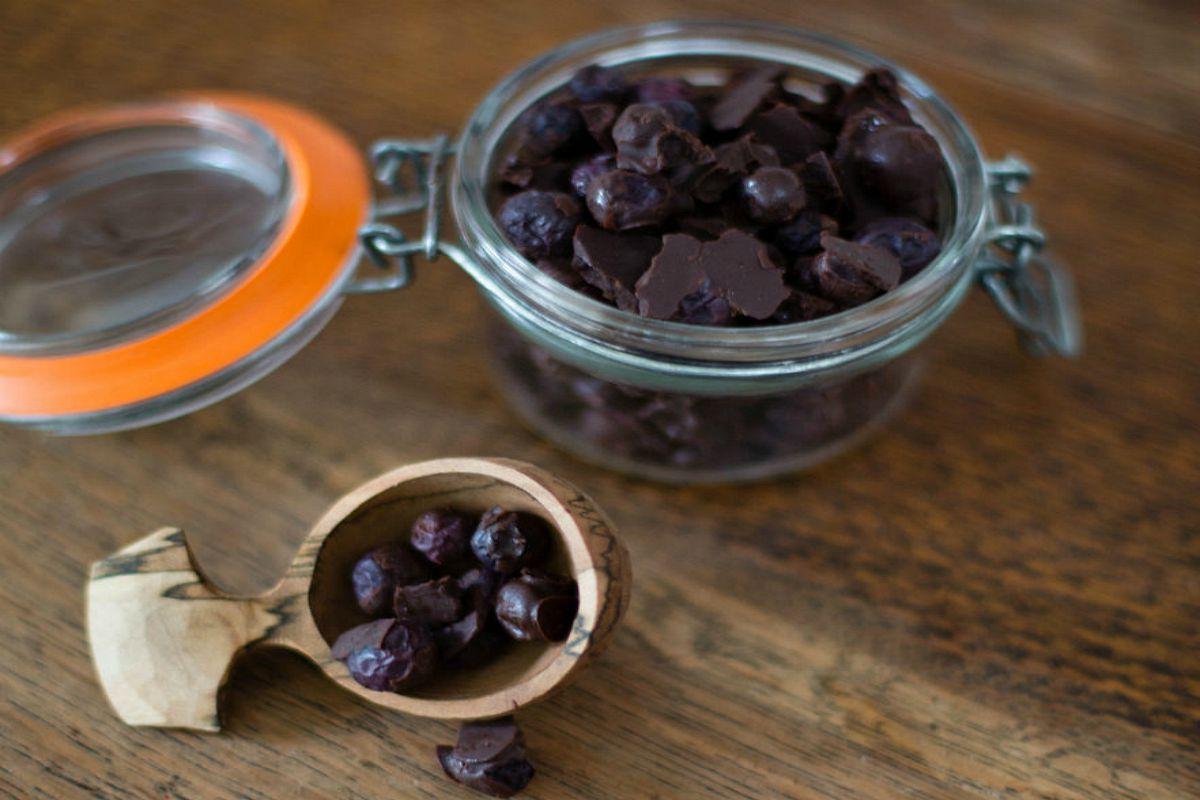 Homemade Chocolate Covered Blueberries [Vegan, Gluten-Free]
