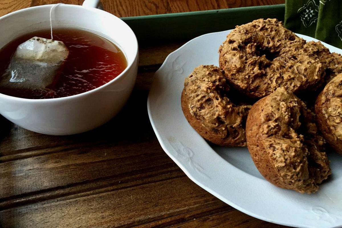 Gingerbread Chia Doughnuts [Vegan]