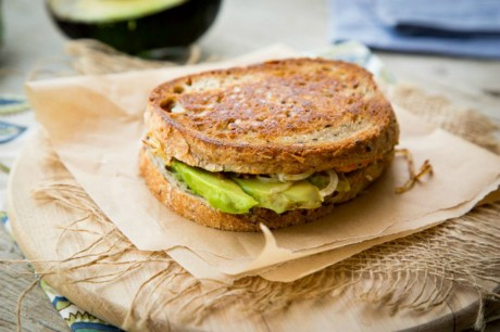 Avocado Pumpkin Panini With Caramelized Onions [Vegan, Gluten-Free]