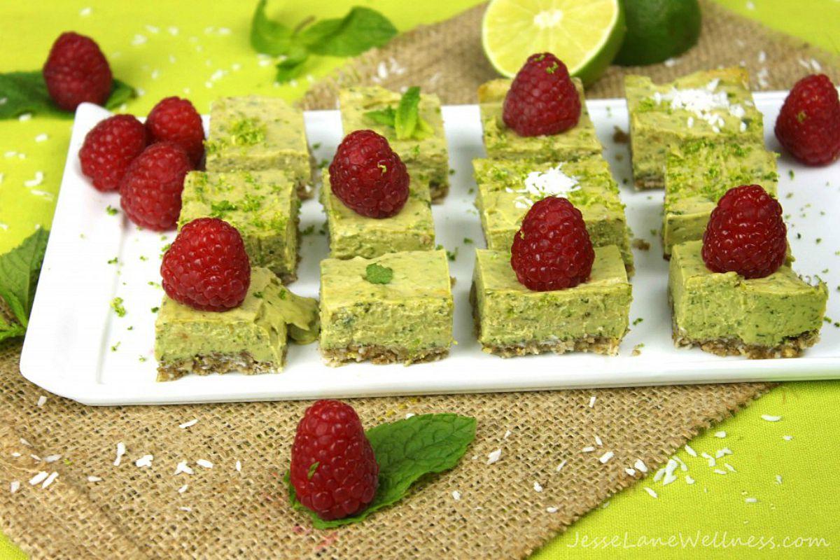 Raspberry Mojito Squares [Vegan, Raw, Gluten-Free]