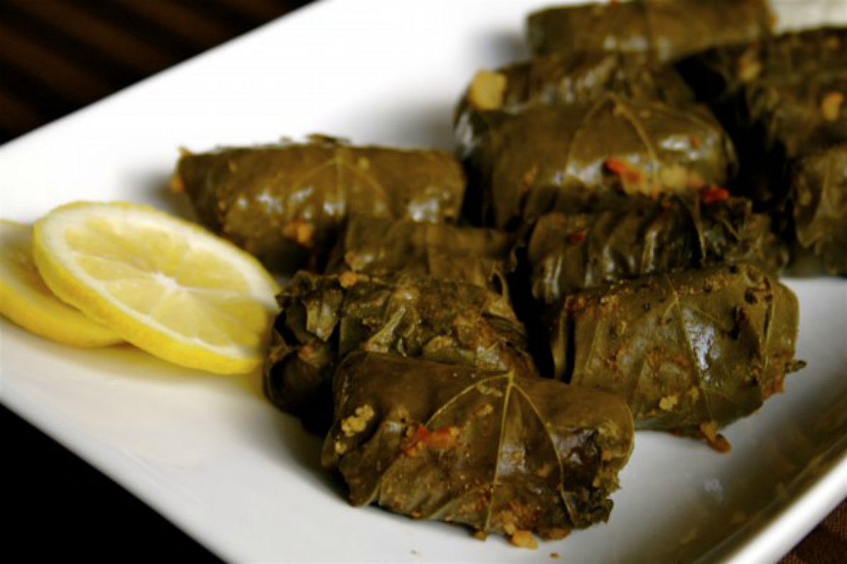 Dolmades Stuffed With Pine Nuts and Currants [Vegan, Gluten-Free]