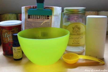 DIY Lemongrass and Coconut Oil Deodorant