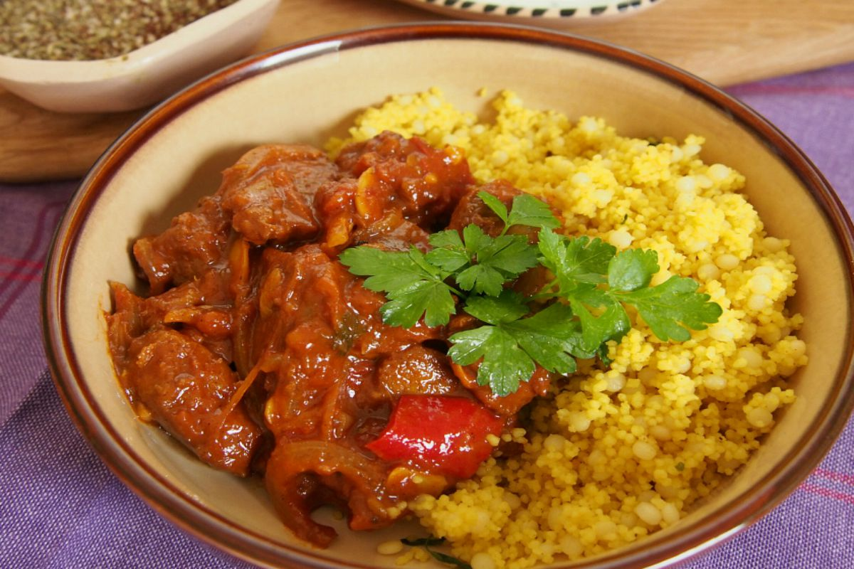 Seitan Tagine with Apricots and Dates [Vegan]