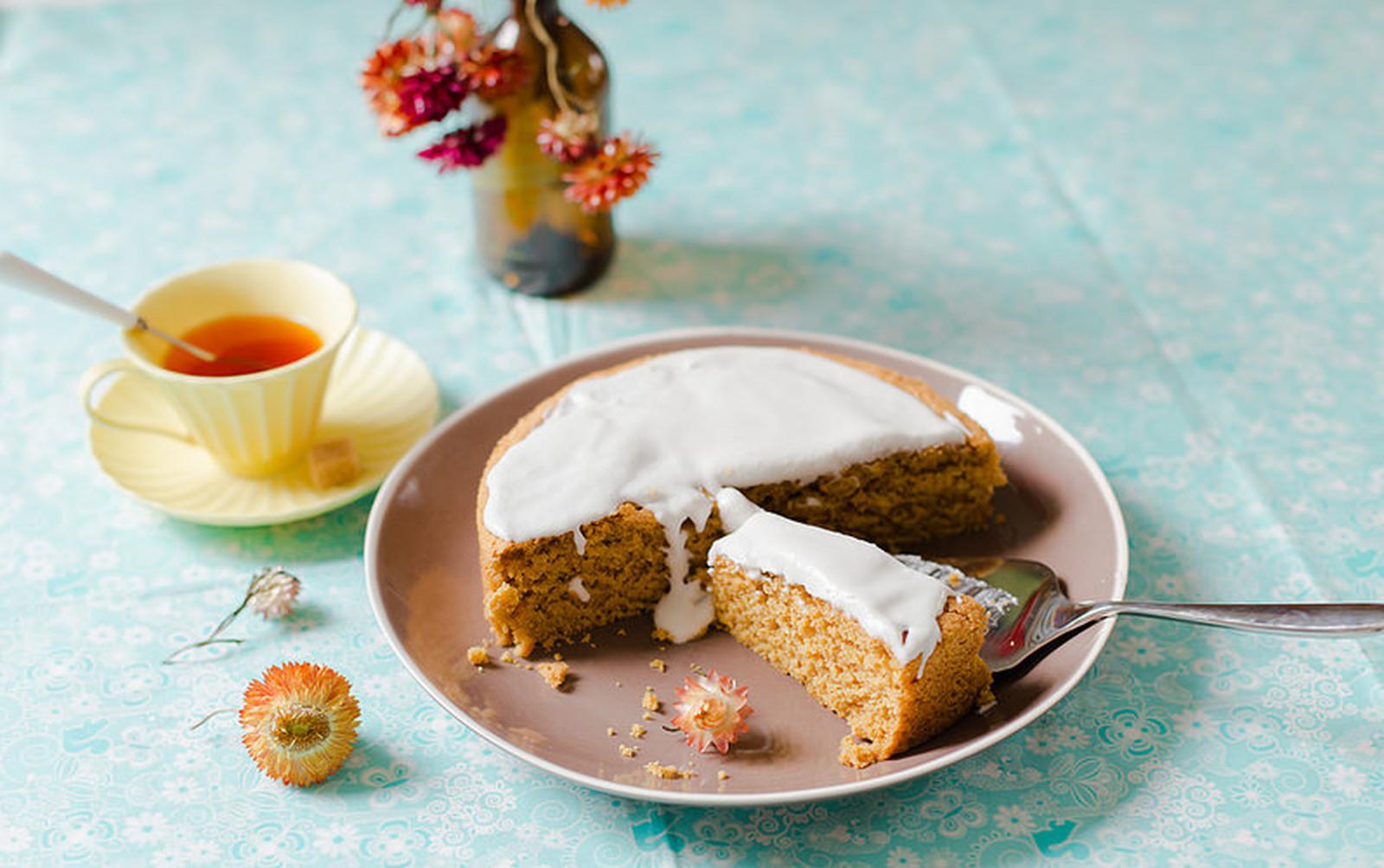 Custard Cake With Whipped Coconut Cream [Vegan]