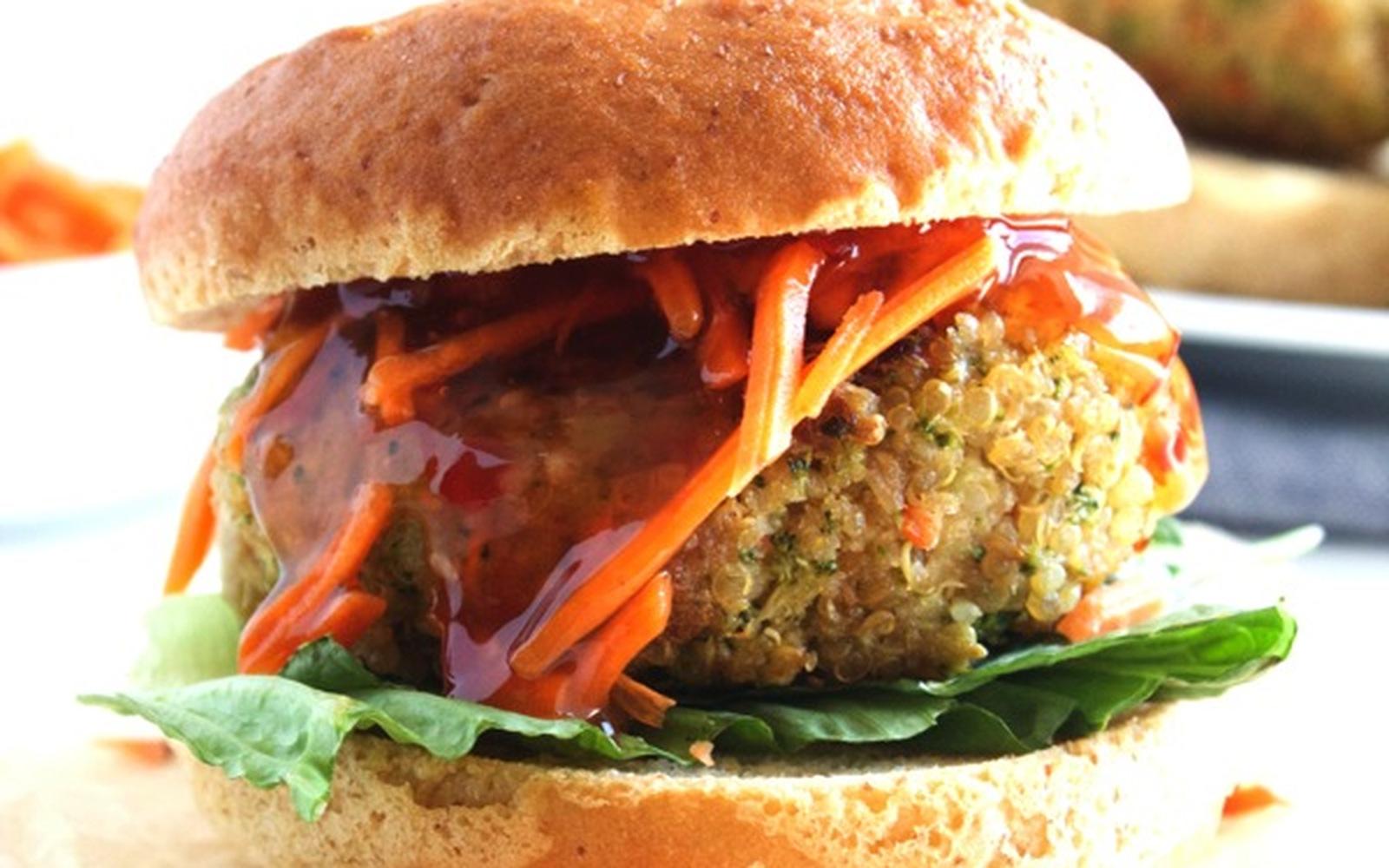 Asian Quinoa Burgers [Vegan]
