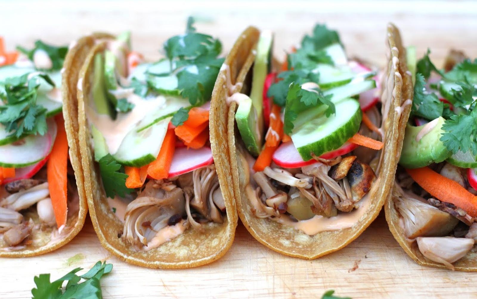 Jackfruit Banh Mi Tacos [Vegan, Gluten-Free]