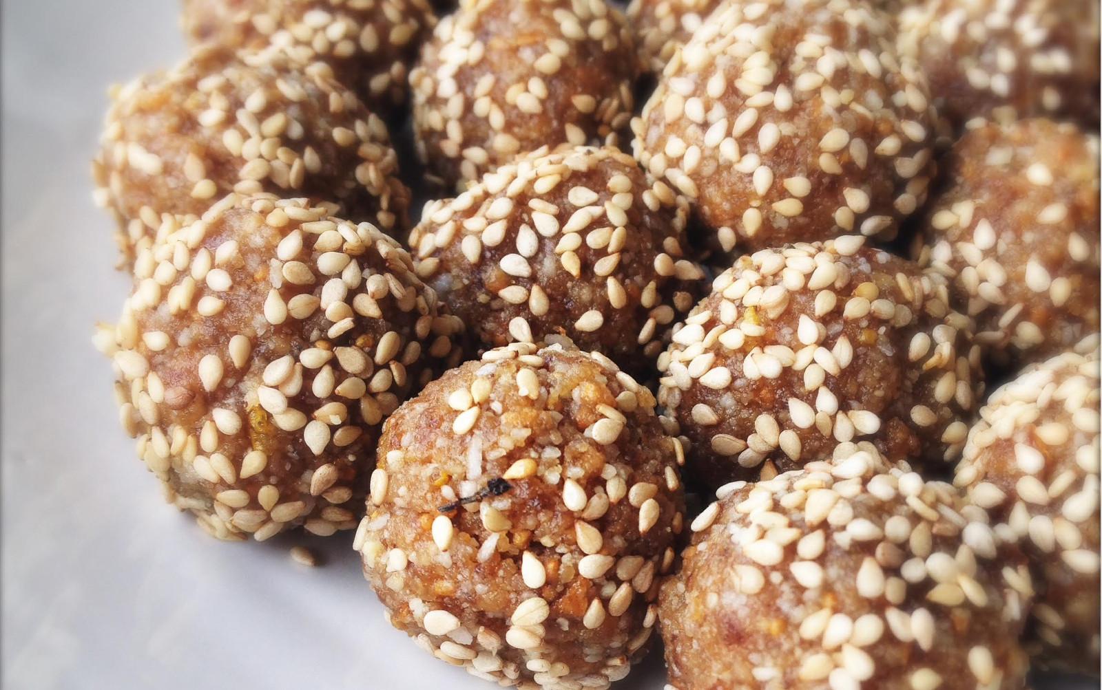 Fig Tahini Truffles [Vegan, Raw, Gluten-Free]