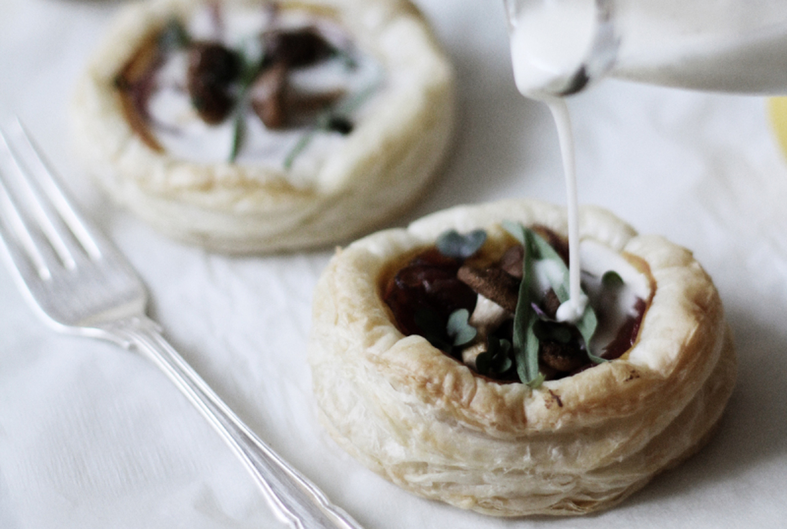 Onion and Shiitake Tarts [Vegan]