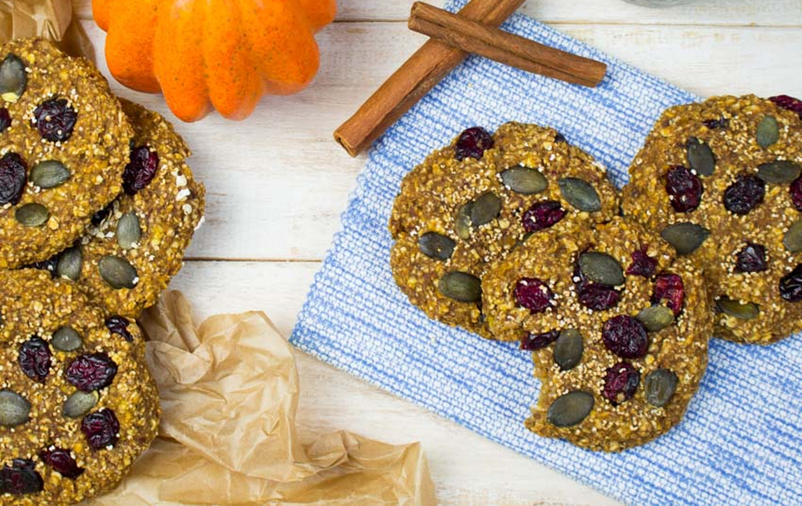 Pumpkin Spice Breakfast Cookies [Vegan]