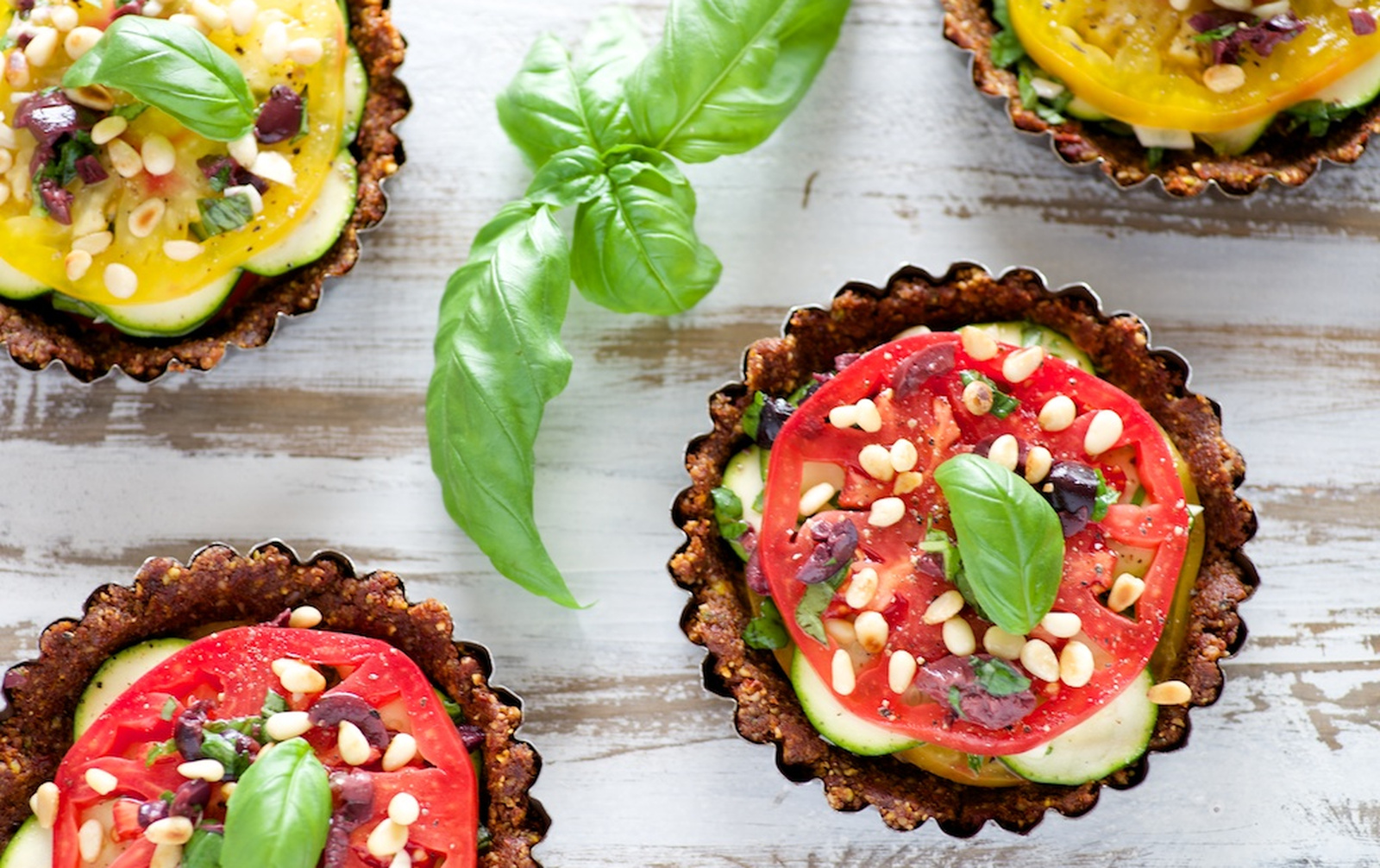 Sun-Dried Tomato and Zucchini Tarts [Vegan, Raw, Gluten-Free]