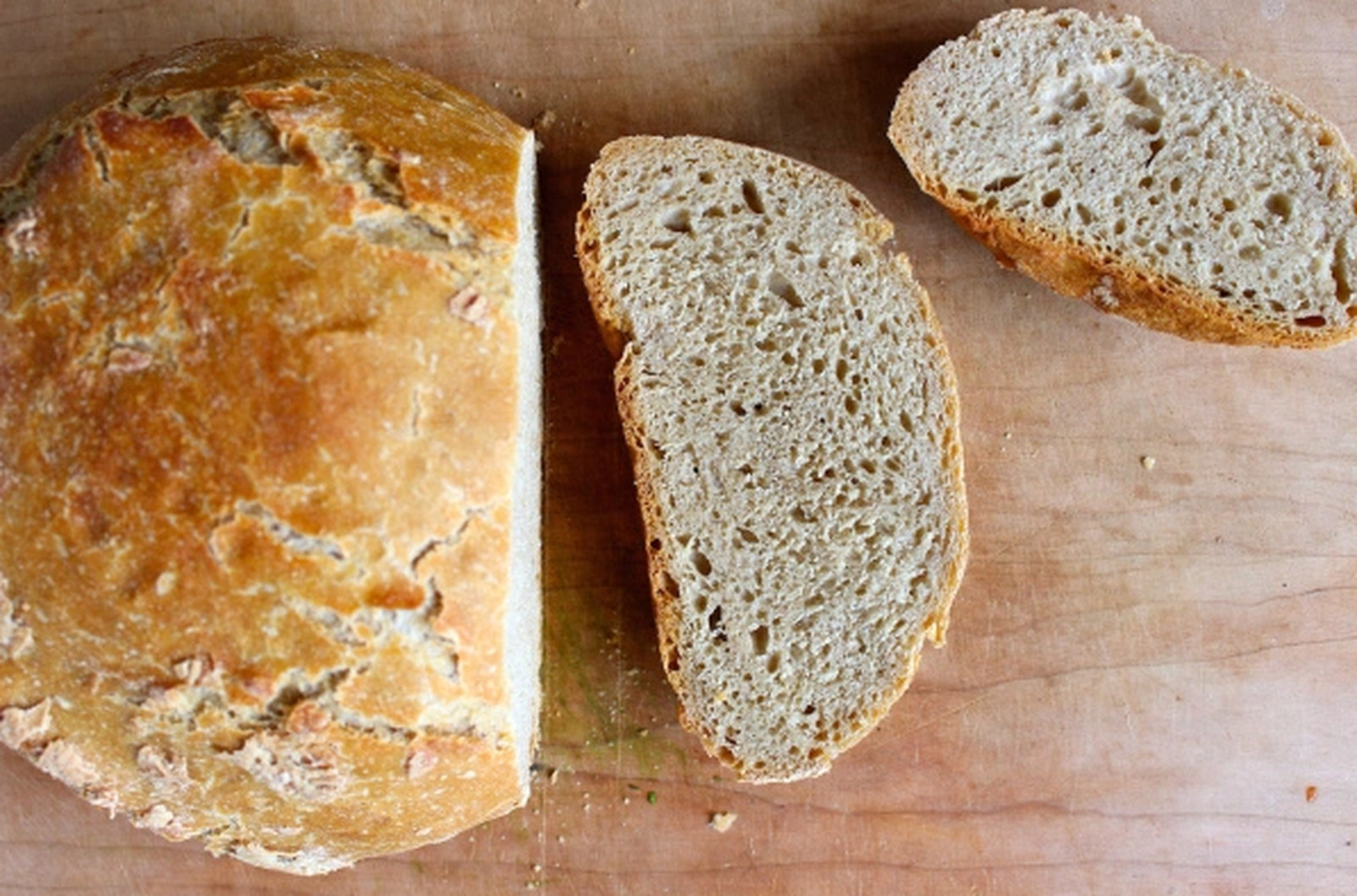 Three-Ingredient Artisan Bread [Vegan]