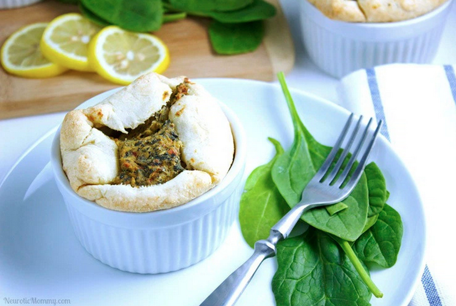 Spinach and Artichoke Soufflé [Vegan]