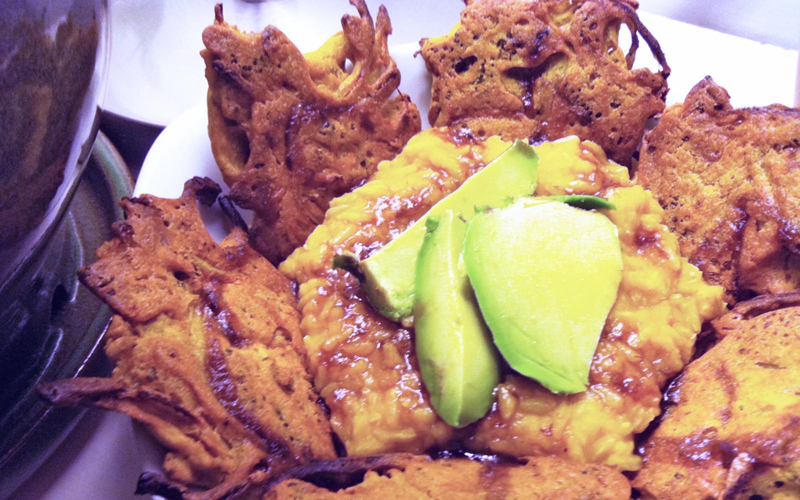 Broccoli and Onion Pakora [Vegan, Gluten-Free]