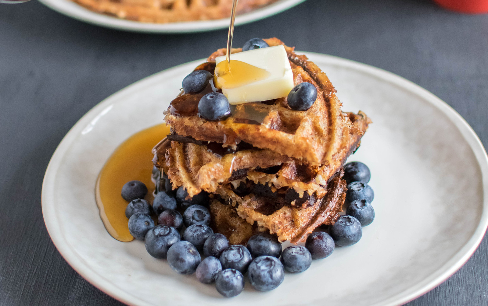 Peanut Butter Bulgur Waffles [Vegan]