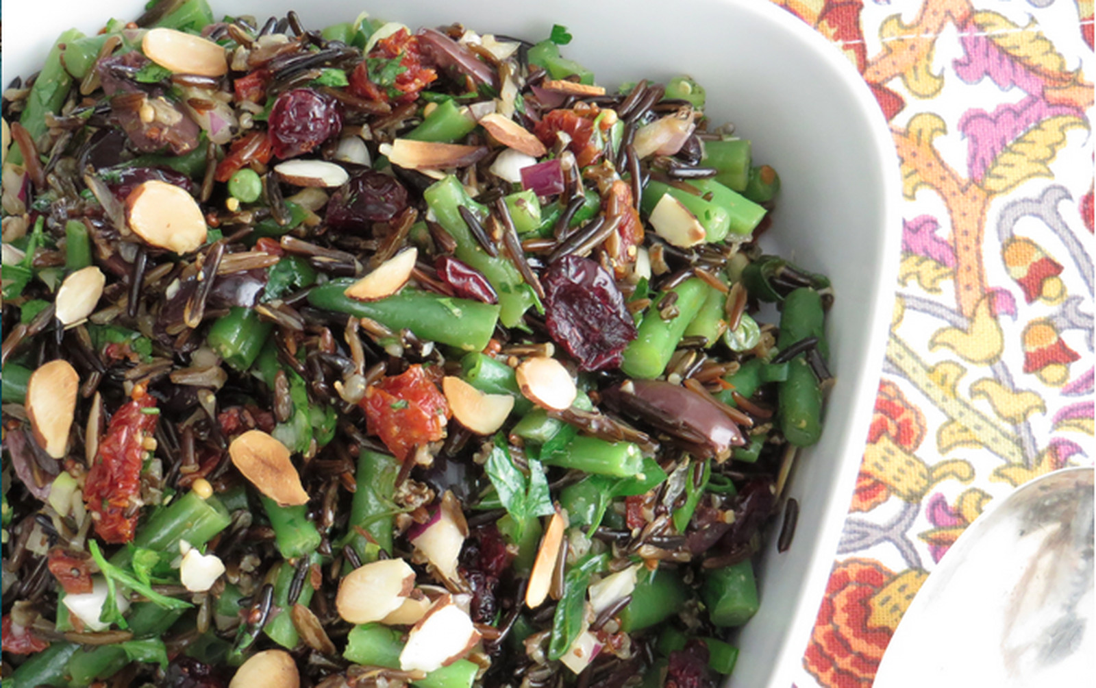 Green Bean and Wild Rice Salad [Vegan, Gluten-Free]