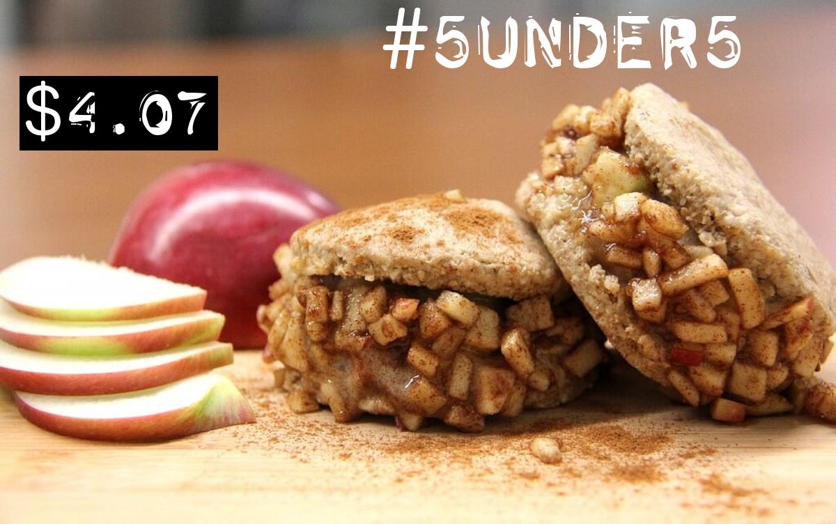 #5under5: Caramel Apple Pie Ice Cream Sandwiches [Vegan, No-Bake]