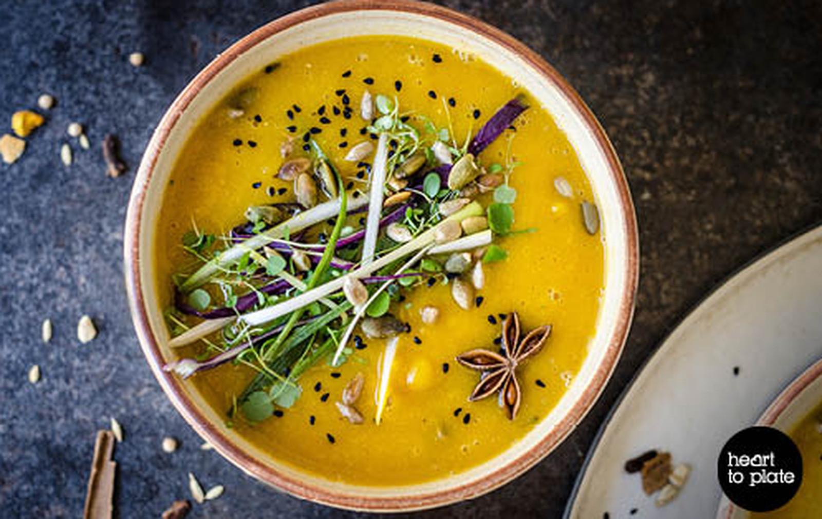 Moroccan Miso, Lentil, and Pumpkin Soup [Vegan, Gluten-Free]