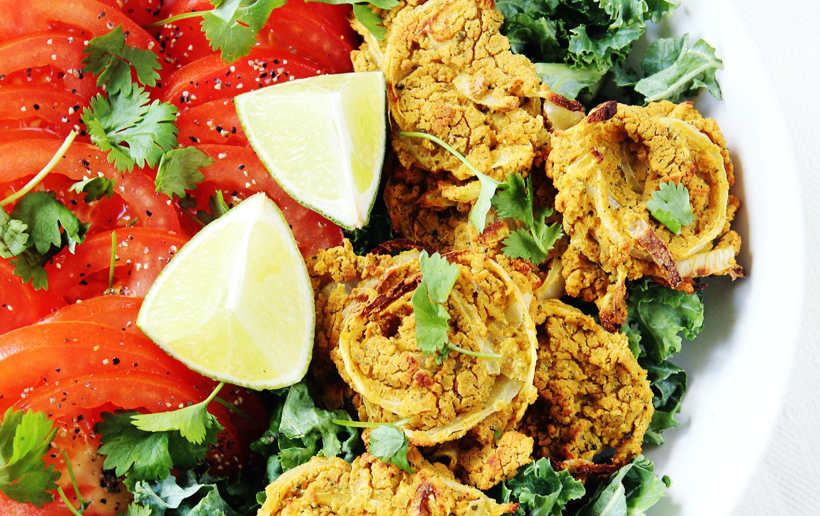Spicy Chipotle Onion Pucks [Vegan, Gluten-Free]