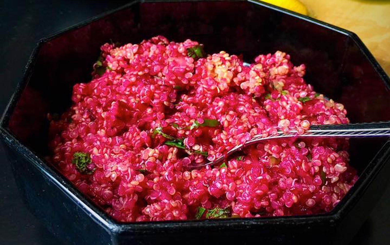 Herbed Beet Quinoa Tabbouleh [Vegan, Gluten-Free]