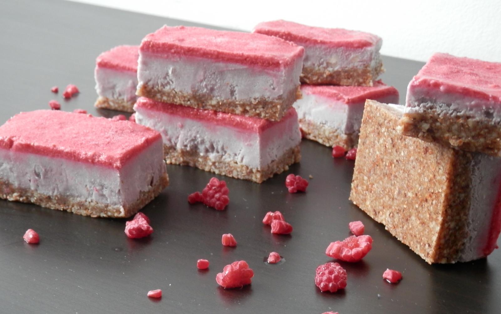 Raw Raspberry Slice [Vegan, Gluten-Free]