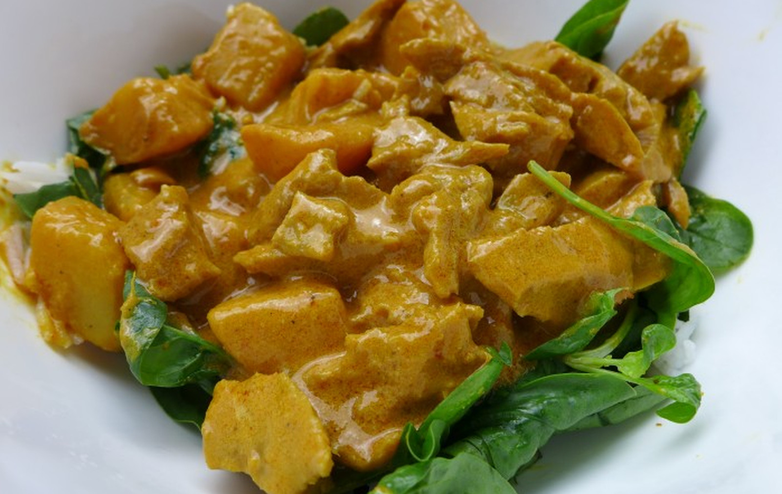 Vegan Thai Yellow Curry With Seitan and Potatoes