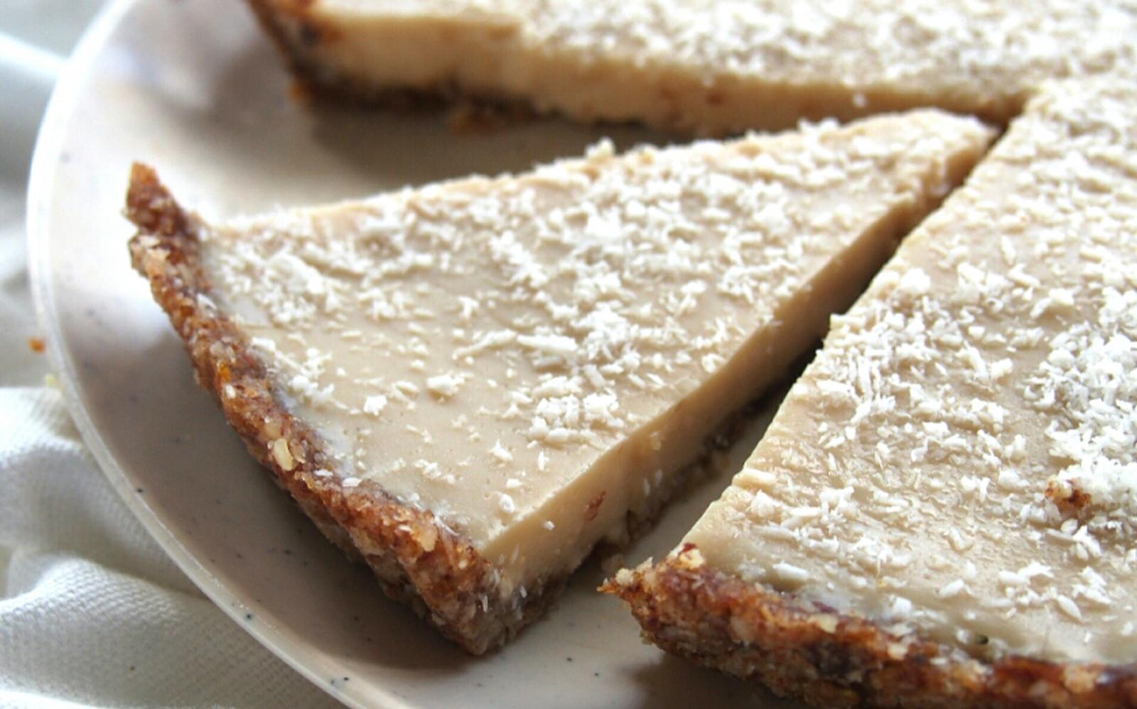No-Bake Coconut Lemon Tart [Vegan, Gluten-Free]