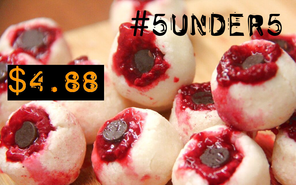 #5under5: Nightmare-Worthy Bloody Coconut Raspberry Monster Eyeballs [Vegan, Gluten-Free]