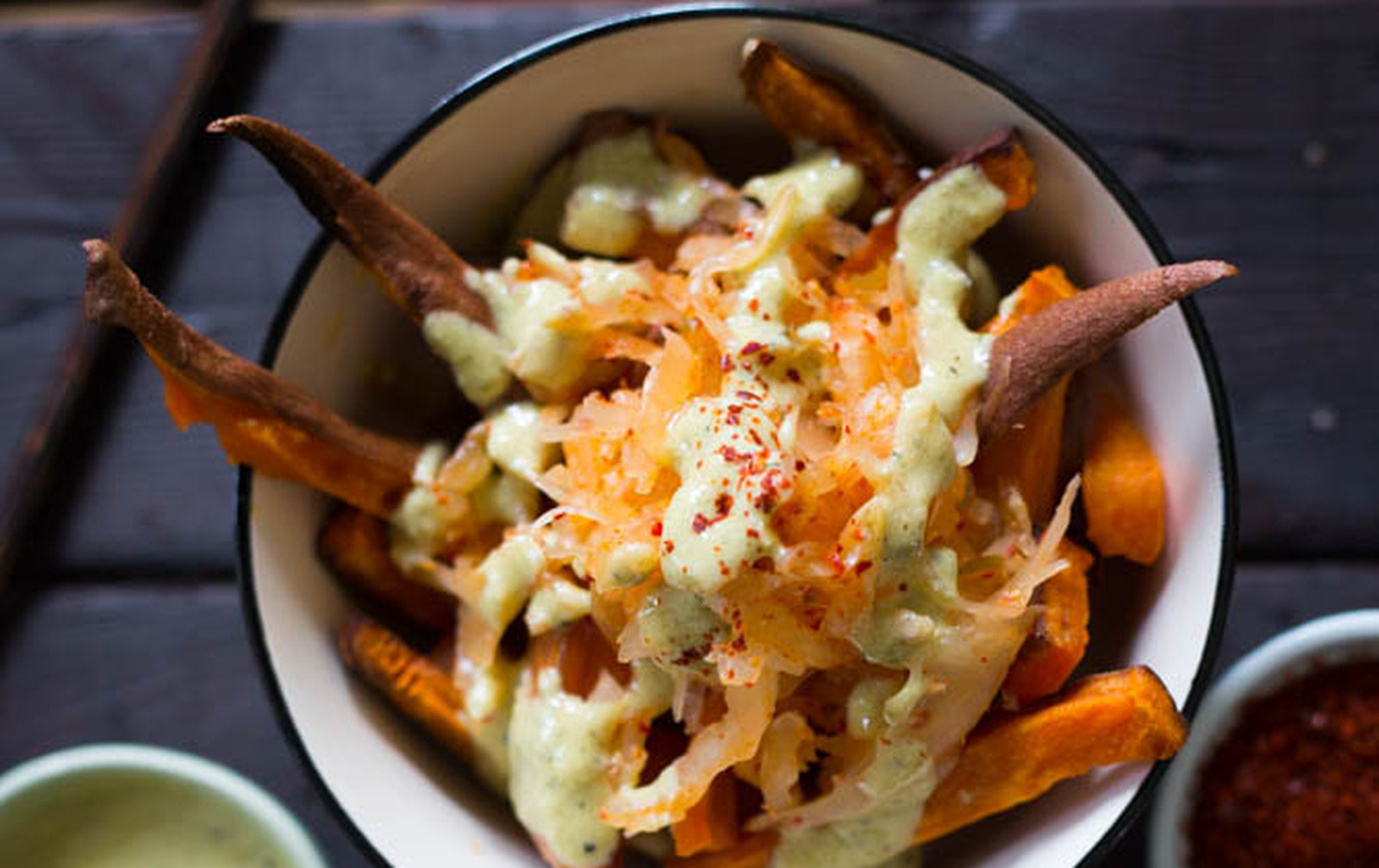 Kimchi Poutine [Vegan, Gluten-Free]