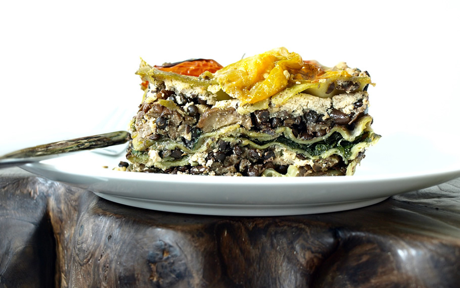 Vegan High-protein Lentil and Eggplant Lasagna