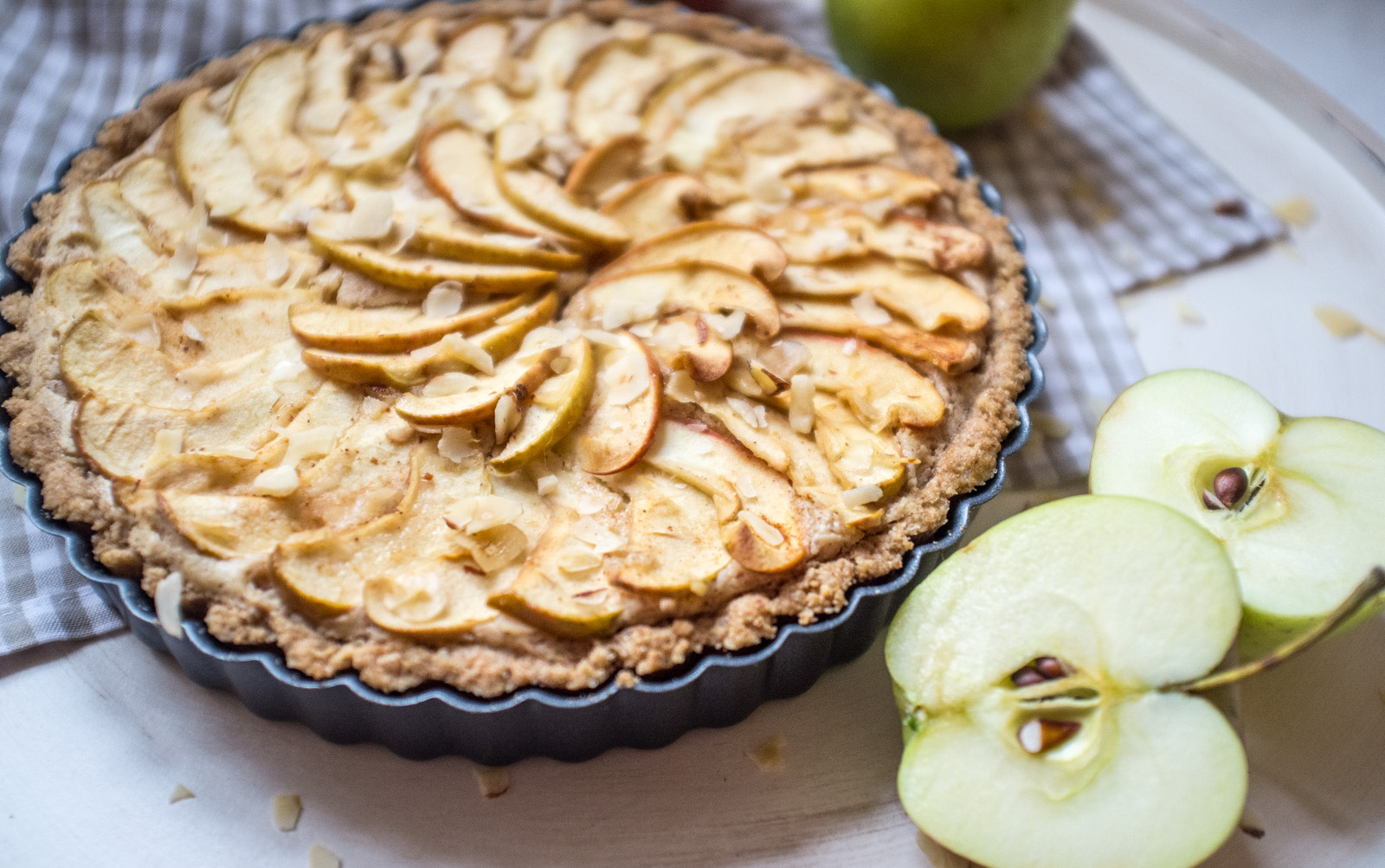 Decadent Hazelnut Maple Apple Tart [Vegan]