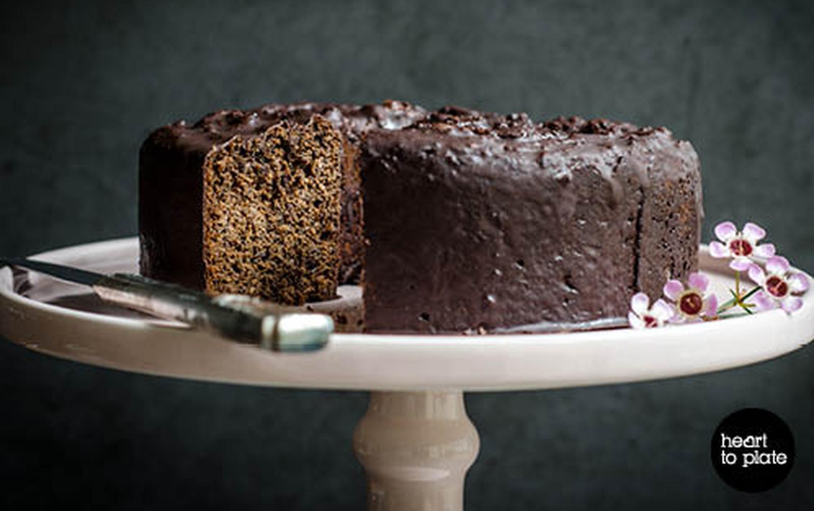 Poppy and Prune Cake ('Mohnkuchen') [Vegan, Gluten-Free]