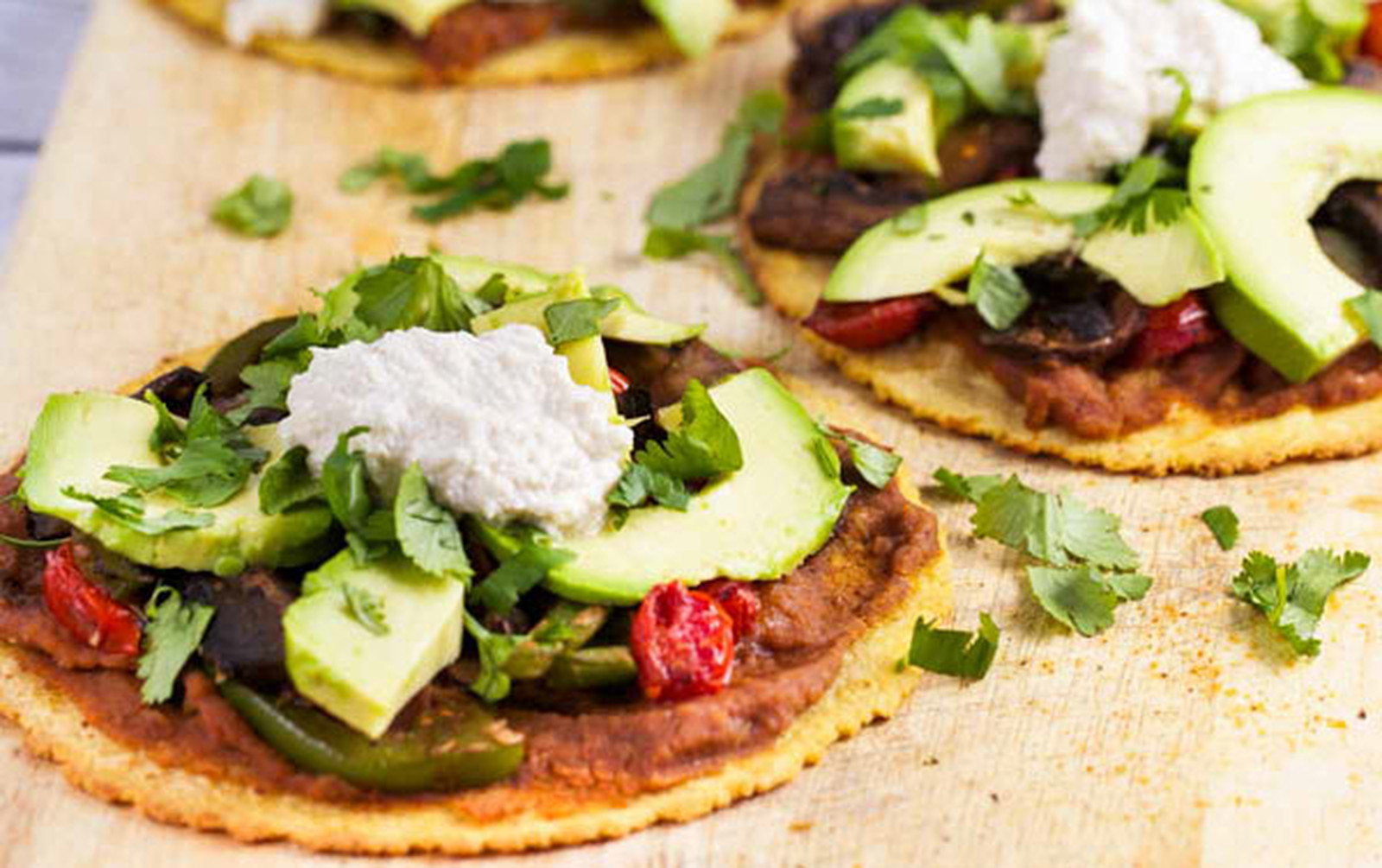 Vegan Portobello Tostadas With Chipotle Cream
