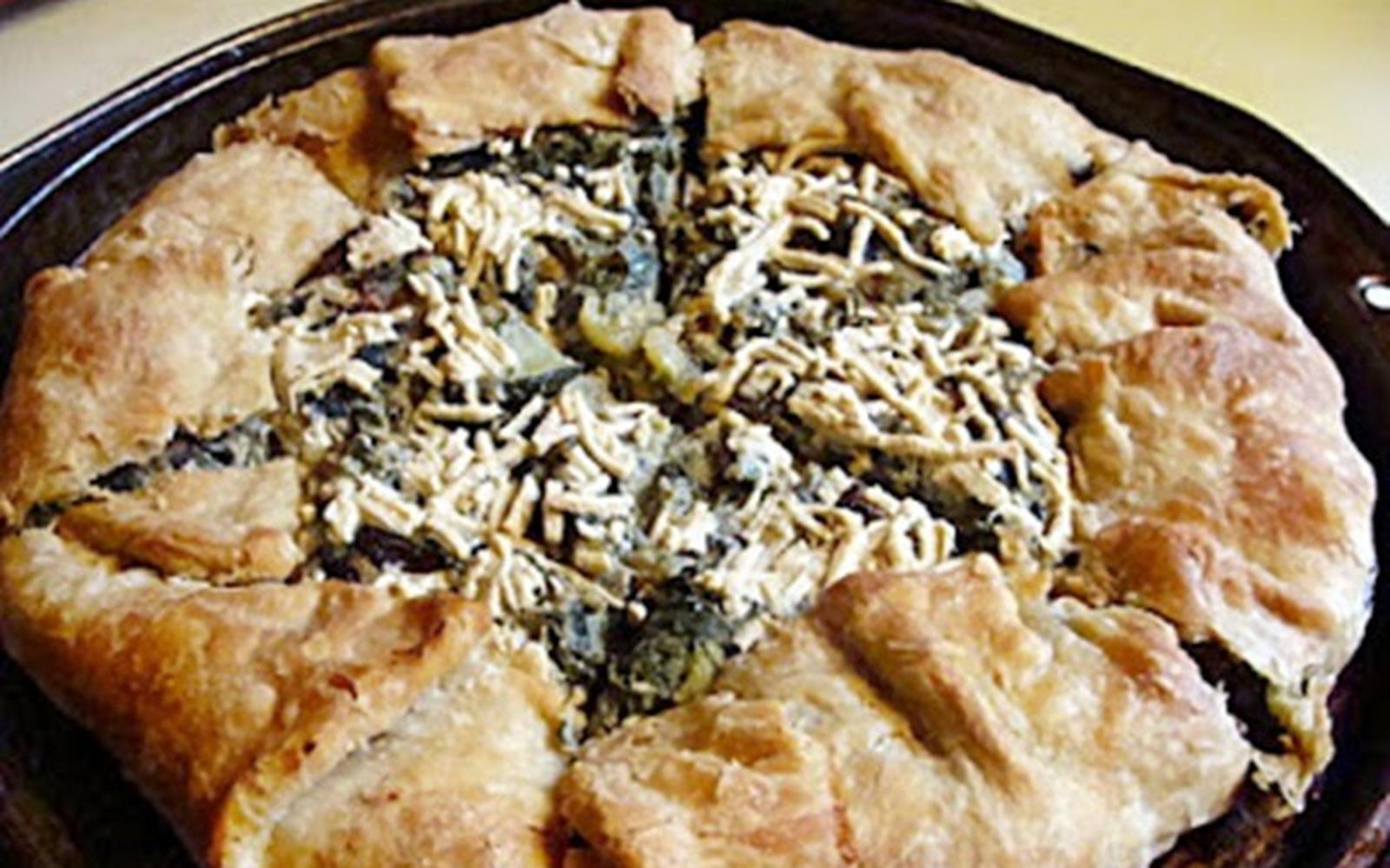 Cheesy Kale and Squash Torta [Vegan]