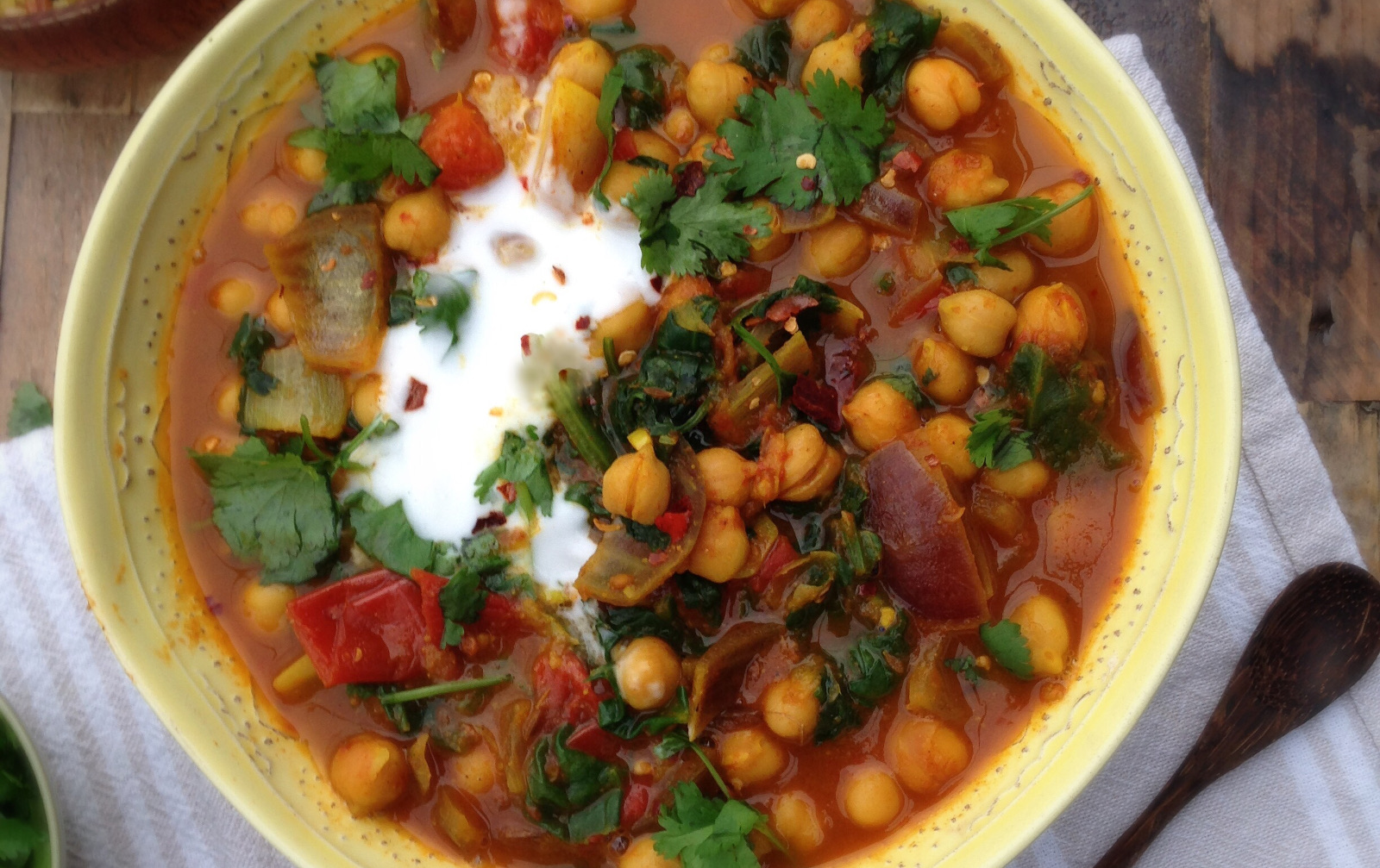 15 Minute Chickpea and Spinach Curry [Vegan, Gluten-Free]