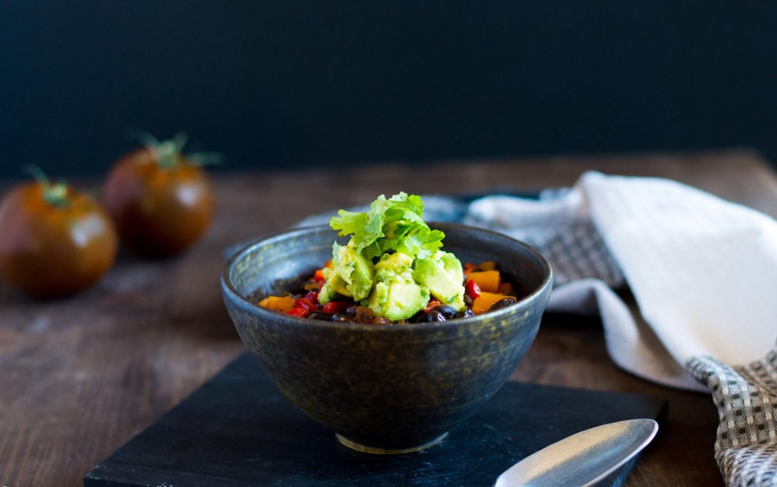 Black Bean and Butternut Squash Chili [Vegan, Gluten-Free]