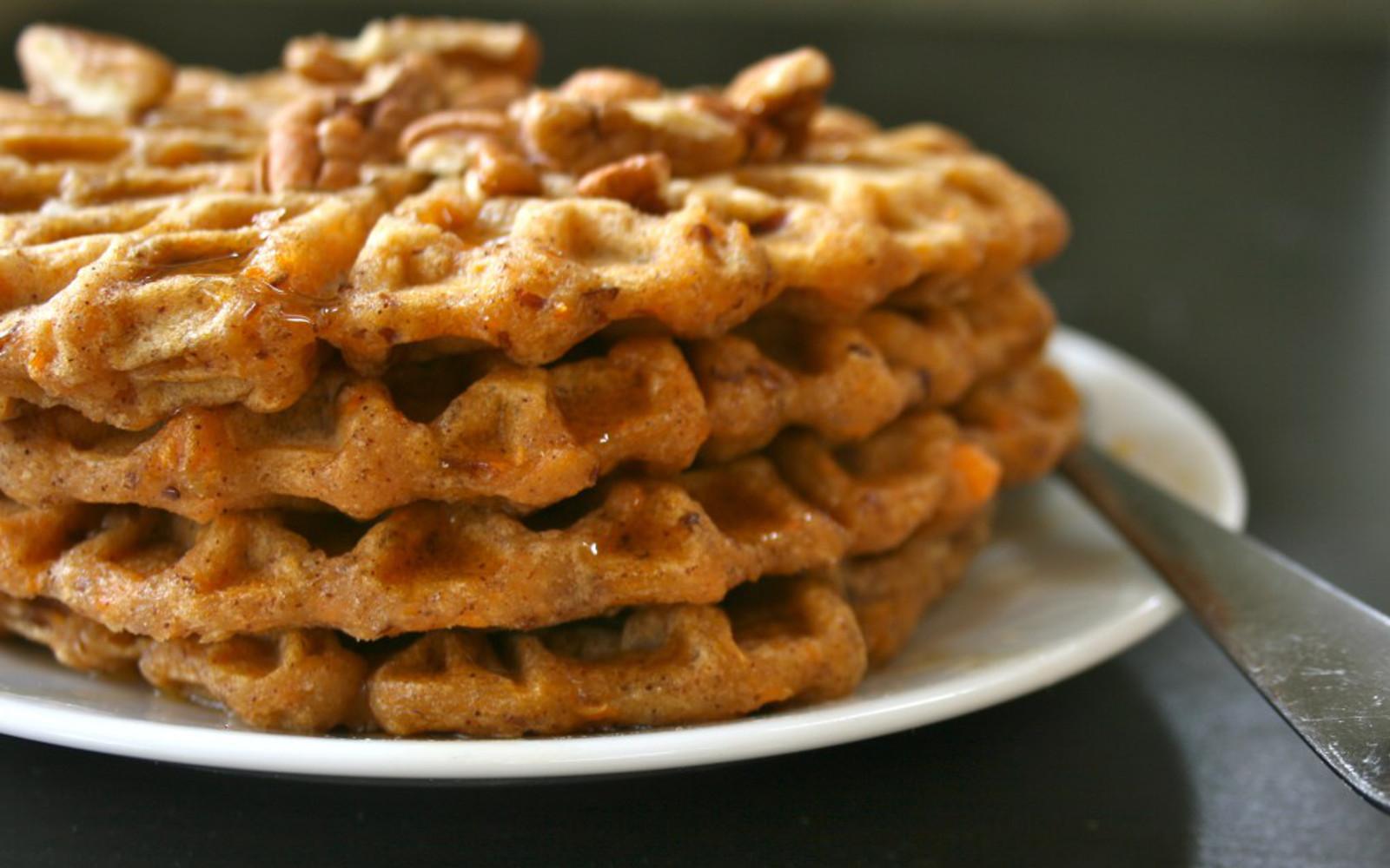 Chai-Spiced Sweet Potato Waffles