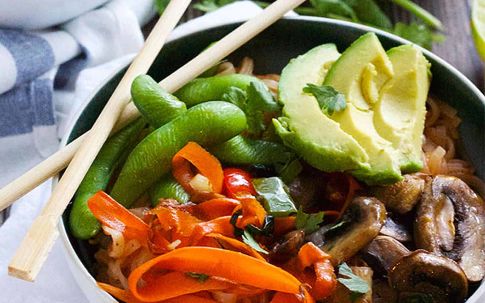 Chili Lime Thai Noodle Bowl [Vegan, Gluten-Free]