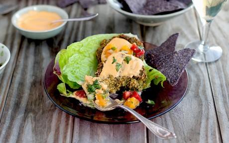 Baked Roasted Poblano Kale Falafel [Vegan, Gluten-Free]