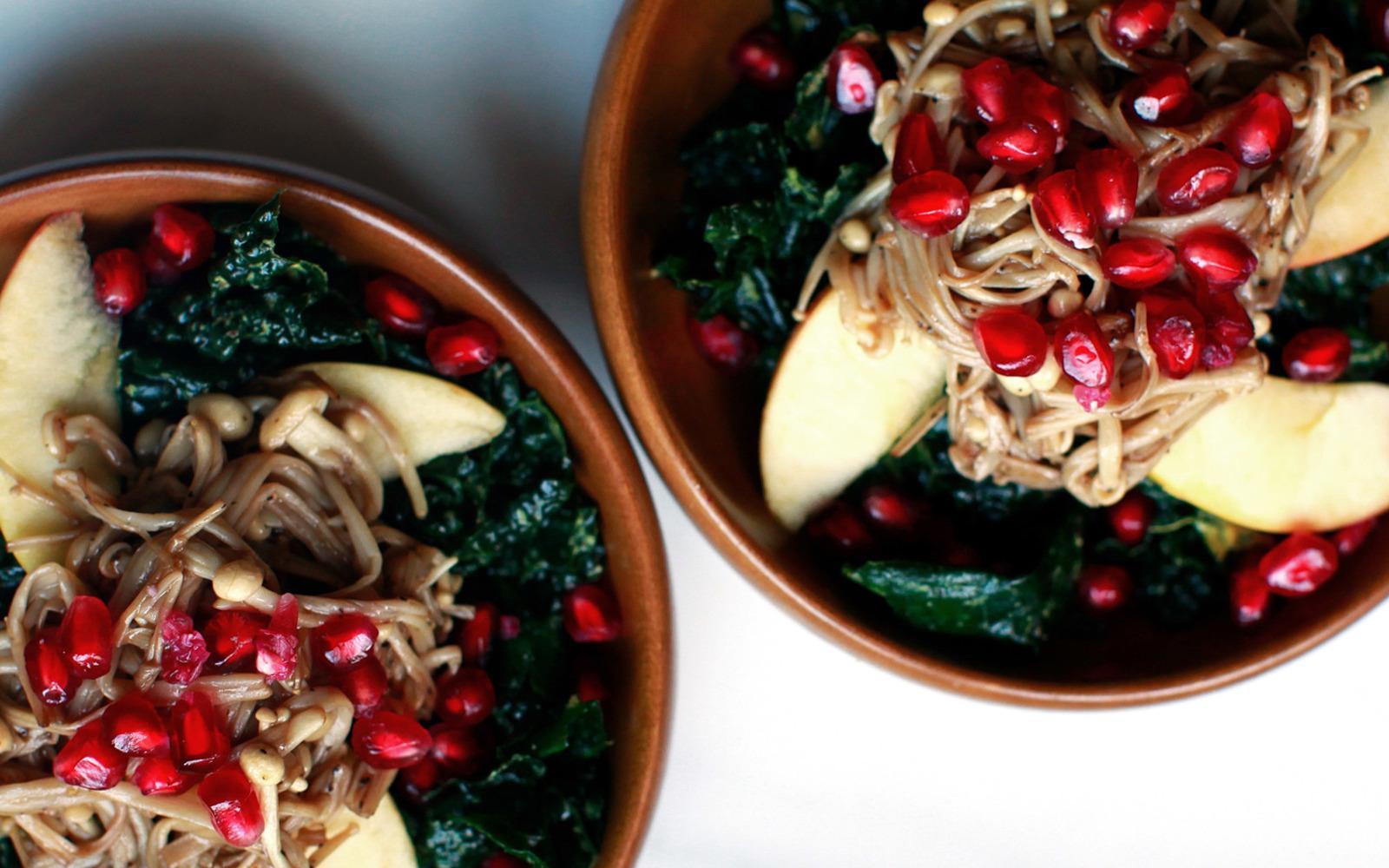 Kale and Enoki Mushroom Salad