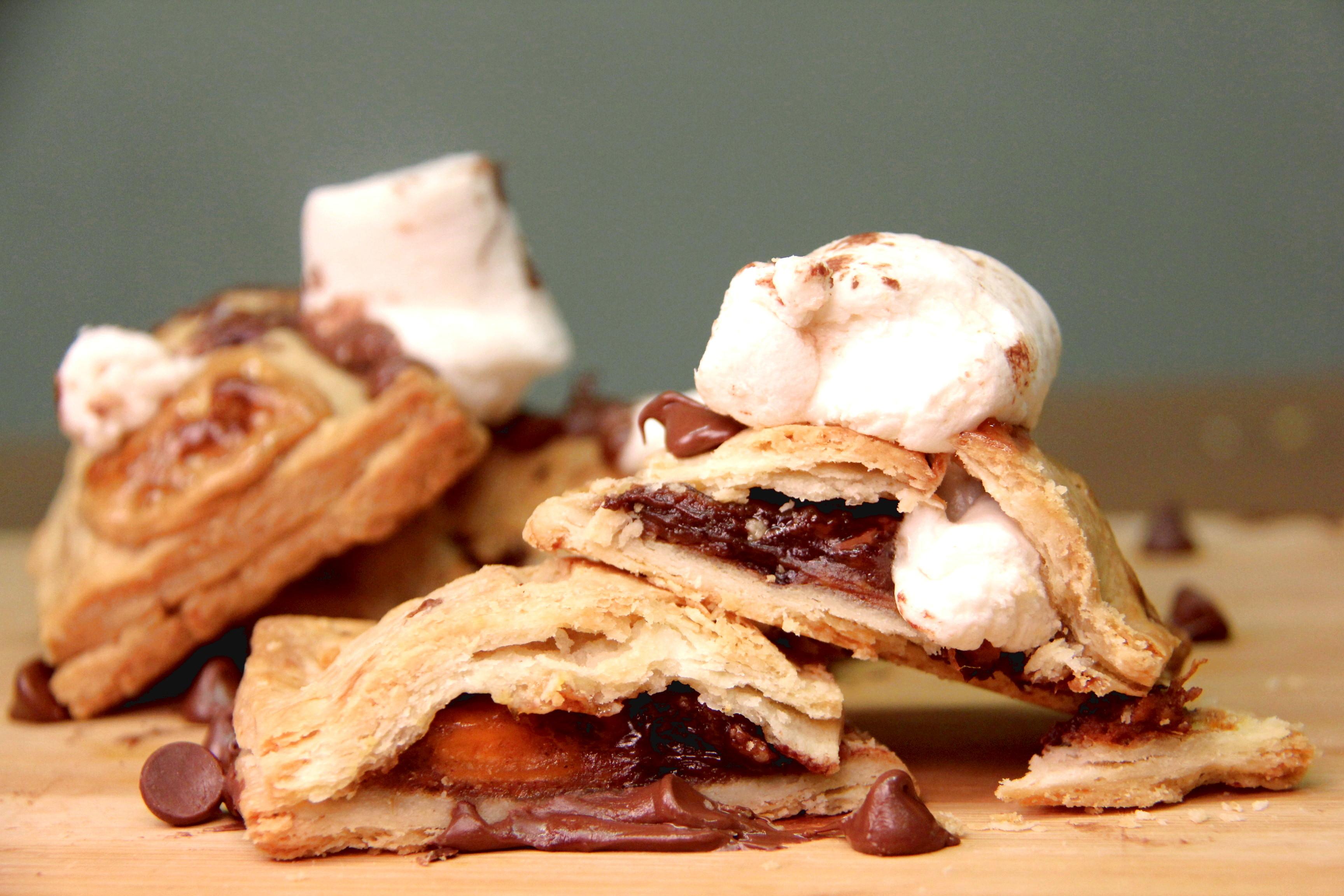 Gooey Marshmallow and Chocolate Bourbon Sweet Potato Pop Tarts