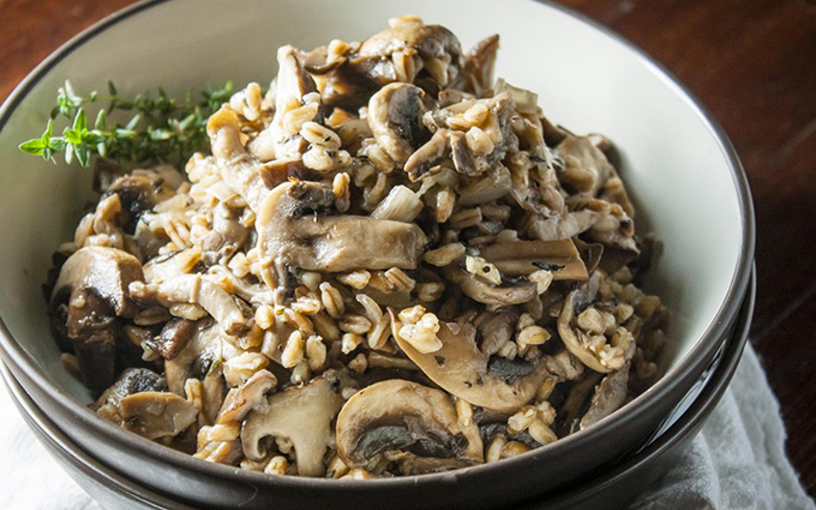 Sauteed Mushroom Farro