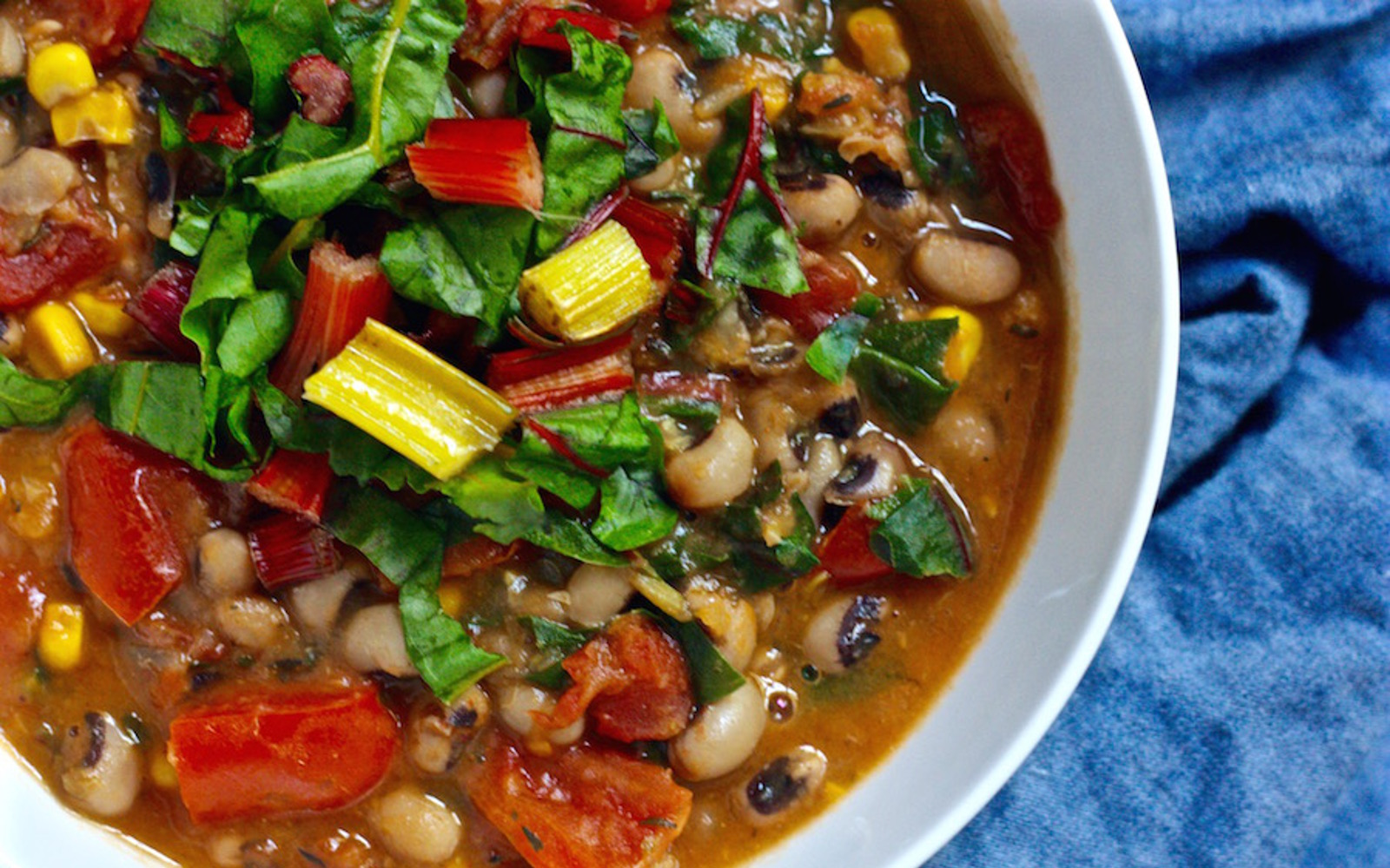 Southern Sweet Potato and Black Eyed Pea Stew