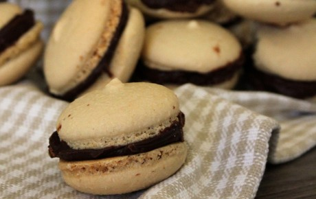 Coffee and Chocolate Macarons [Vegan, Gluten-Free]