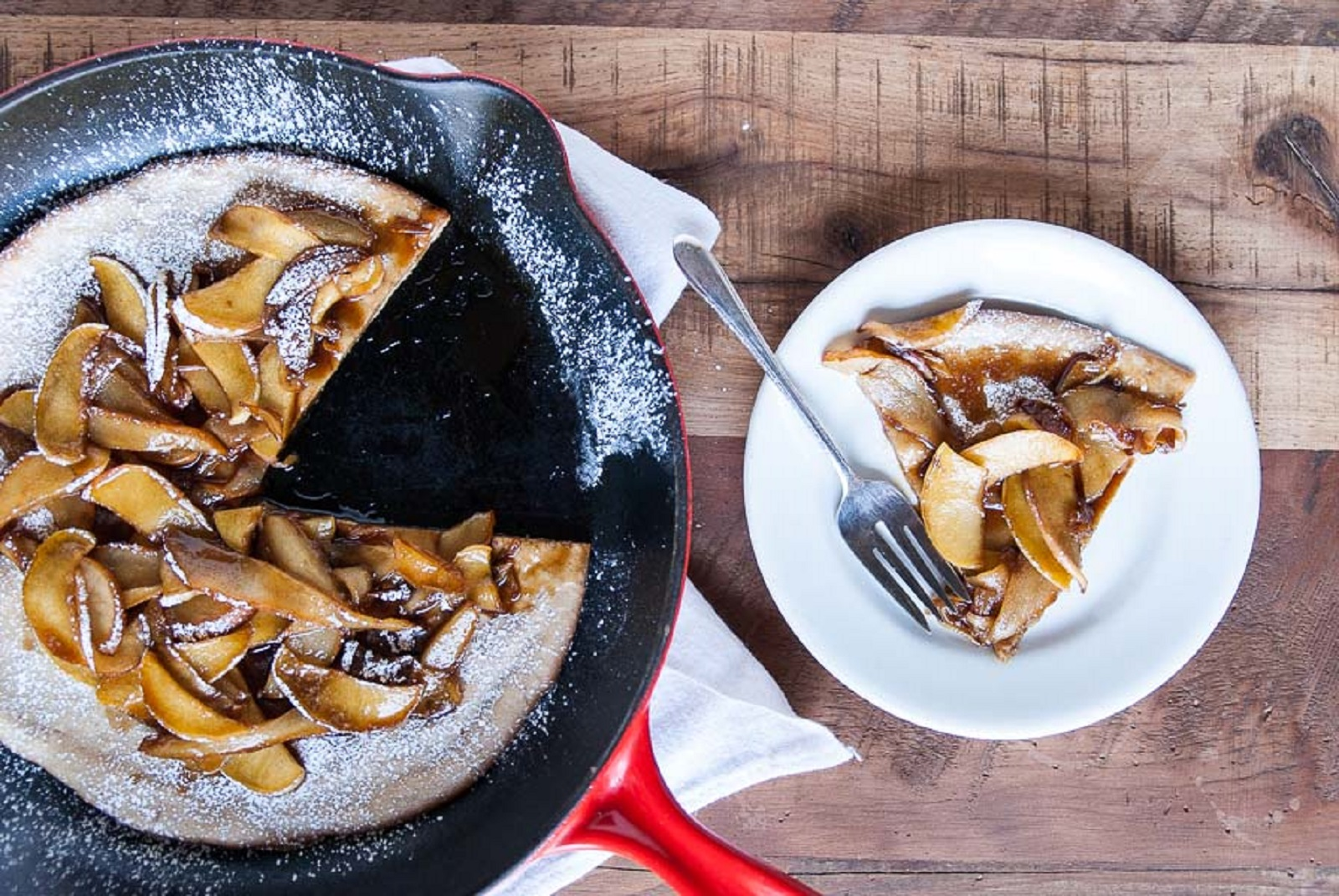 Dutch Baby With Caramelized Apples and Pears [Vegan]