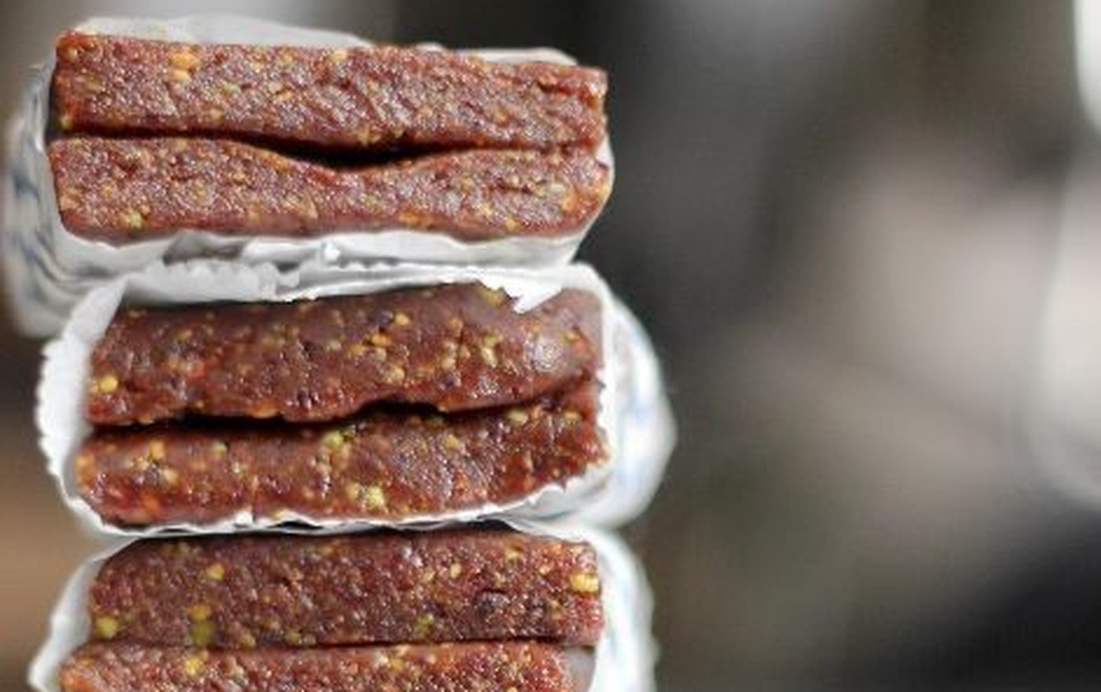 3 Ingredient Cherry Pistachio Energy Bars [Vegan, Gluten-Free]