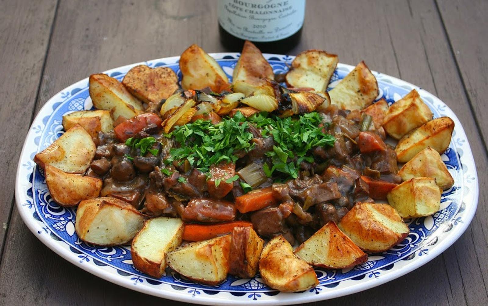 Bœuf Bourguignon Végétalien [Vegan, Gluten-Free]