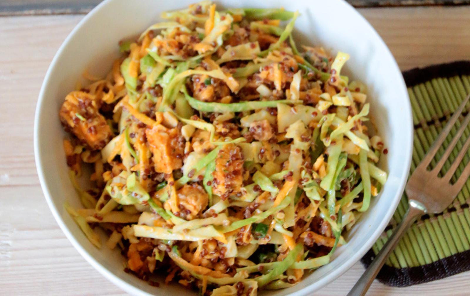 Buffalo Tempeh Quinoa Salad [Vegan, Gluten-Free]