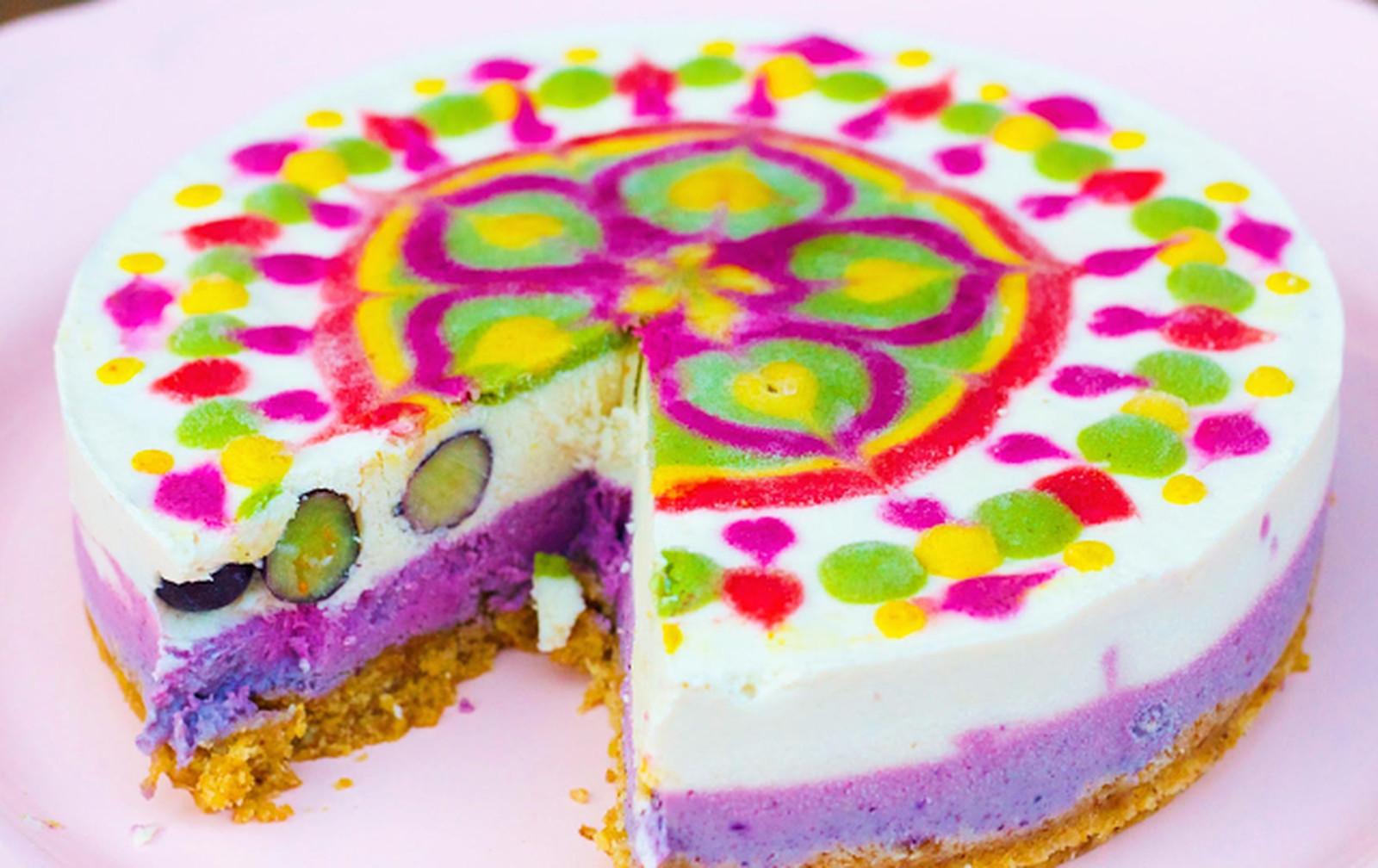 Two Layer Mandala Cheesecake [Vegan, Raw, Gluten-Free]