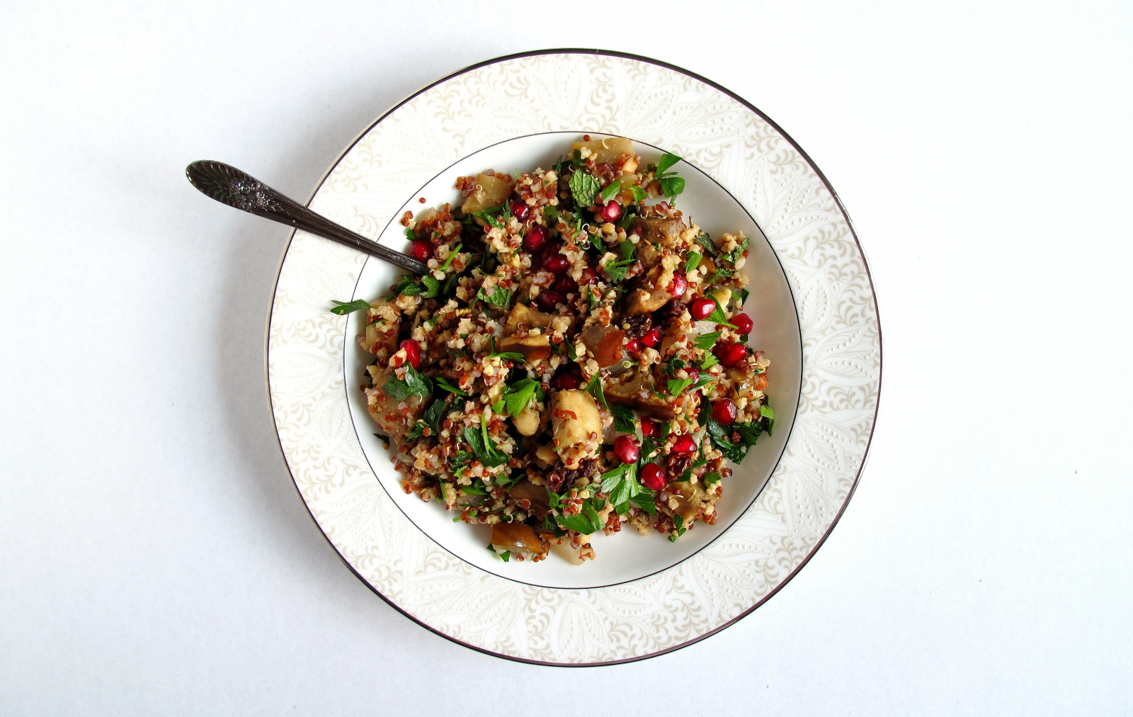 Pomegranate and Hazelnut Moroccan Grain Salad [Vegan, Gluten-Free]