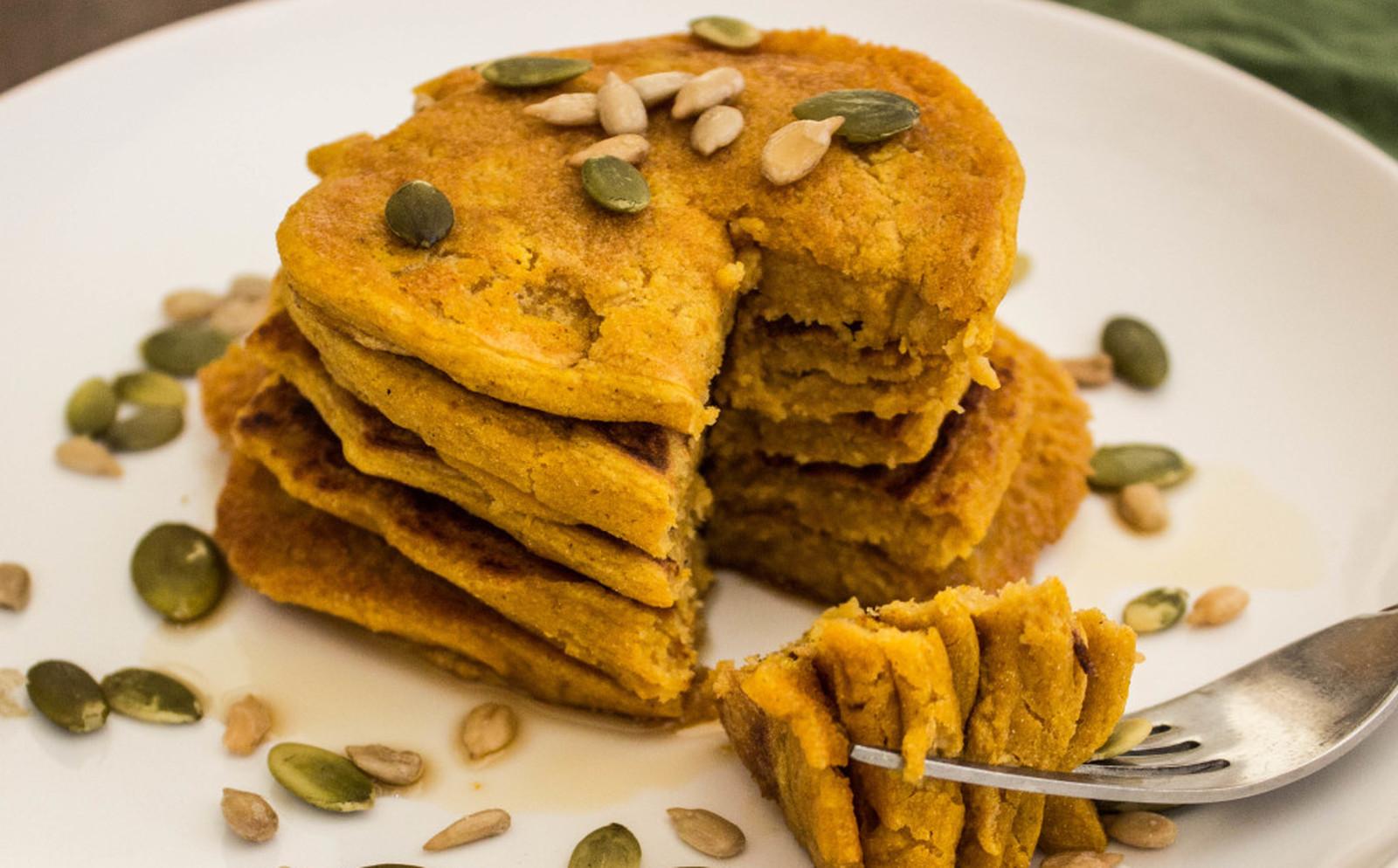 Pumpkin Pancakes For One [Vegan, Gluten-Free]